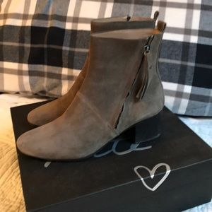 Banana Republic suede booties.